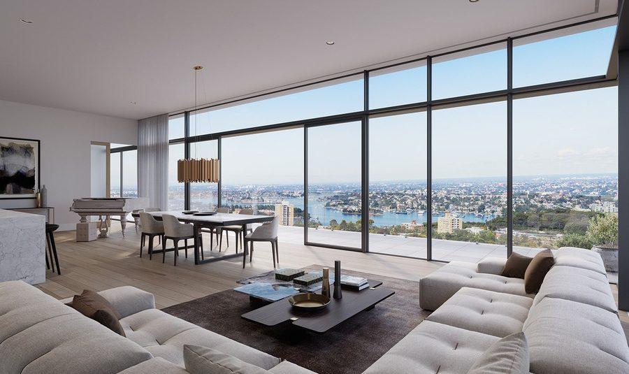 Mẫu căn hộ penthouse sang trọng thu hút ánh nhìn