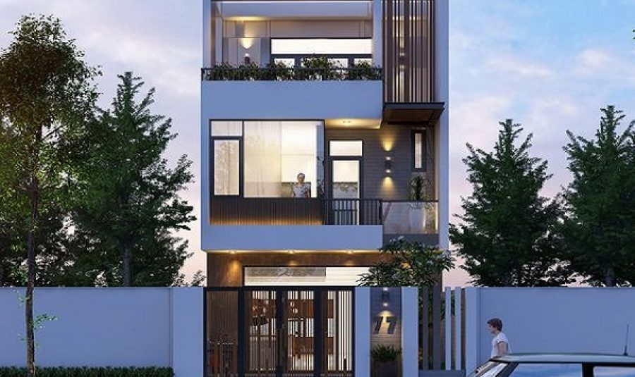 Một số mẫu nhà phố 3 tầng 5*15m vuông phong cách hiện đại