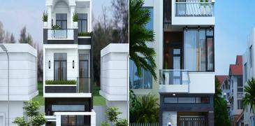 Ngắm nhìn mẫu nhà phố 3 tầng mặt tiền 7m với kiến trúc hiện đại