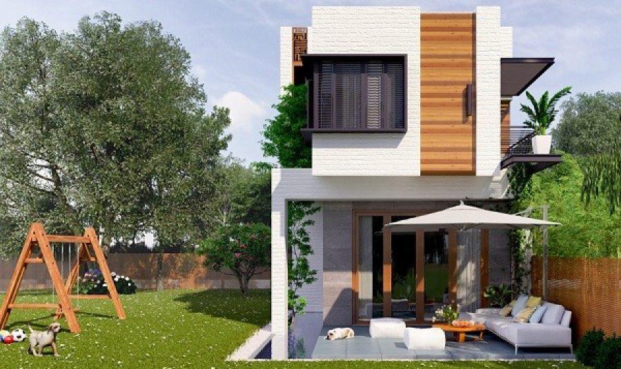 Nhà phố 1 trệt 1 lầu thiết kế đơn giản và ấn tượng
