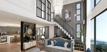 Mẫu căn hộ chung cư Duplex kiểu thông tầng – Xu hướng nhà thời đại mới