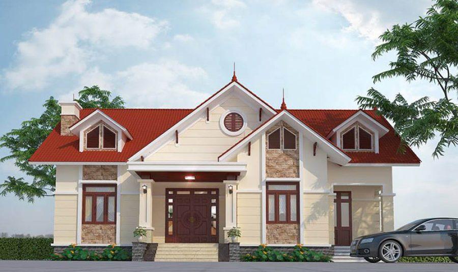 Mẫu nhà mái Thái cấp 4 nông thôn