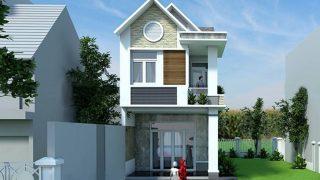 Top những mẫu nhà ống 2 tầng mái Thái hiện đại