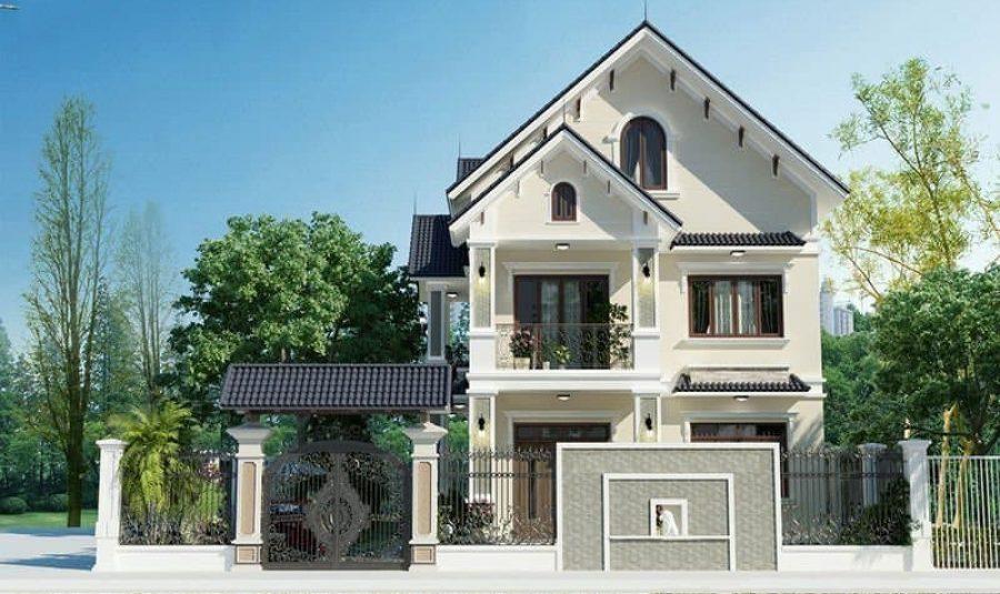 Mẫu nhà vuông 2 tầng mái thái đẹp tiết kiệm chi phí