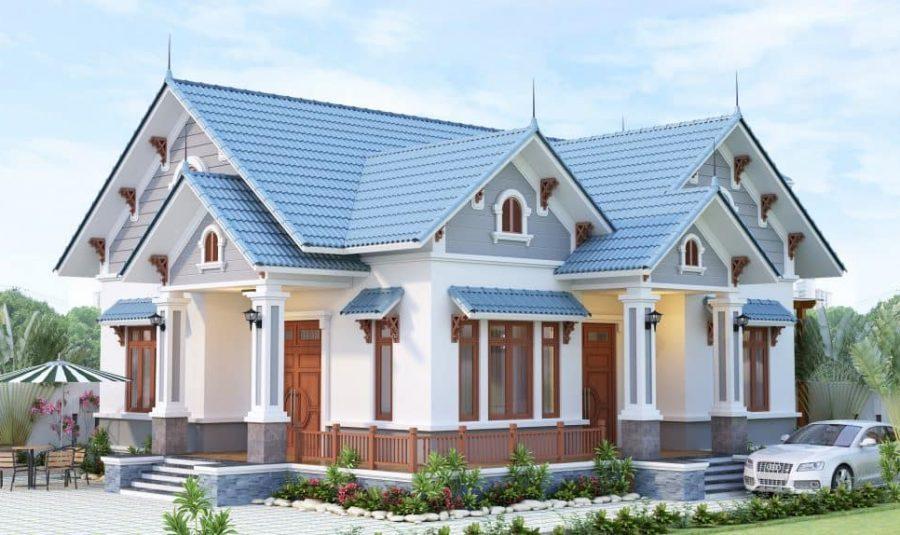 Nhà mái Thái đẹp 2020