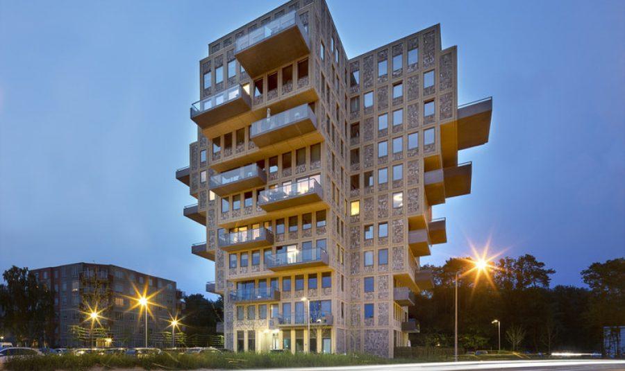 Belvedere Tower – Tòa chung cư hình chữ thập độc đáo ở Amsterdam