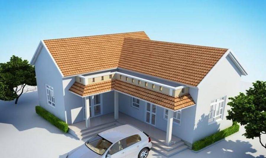 Top 10 mẫu nhà mái Thái chữ L